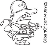 439922-Royalty-Free-RF-Clip-Art-Illustration-Of-A-Cartoon-Black-And-White-Outline-Design-Of-A-Tough-Military-General